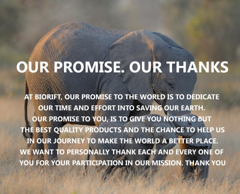 Showcasing our Biodegradable Promise for Elephants - One Bag Can Save Many Lives